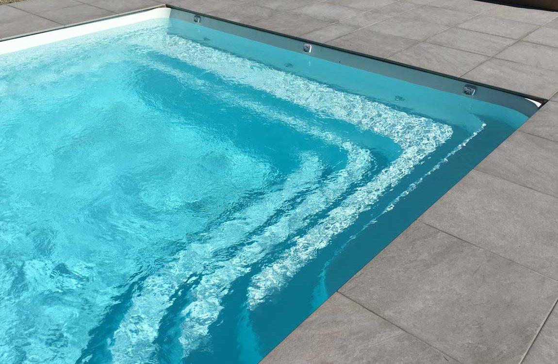 Construction d'une piscine à coque à St Egrève