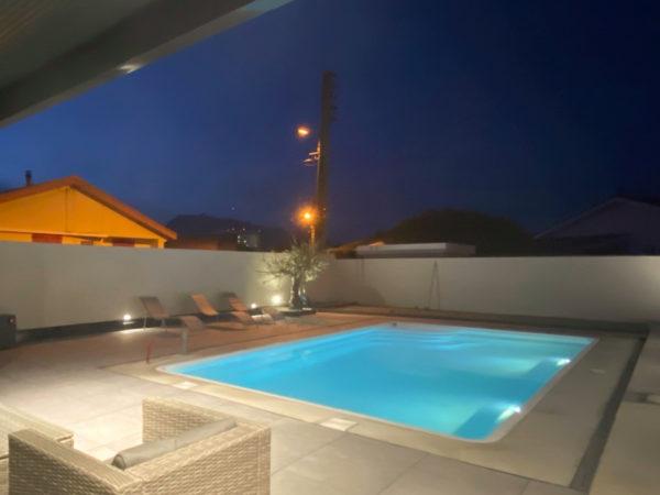 Construction d'une piscine à coque à Echirolles